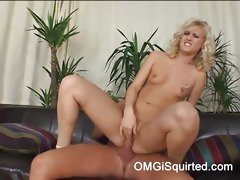 Sexy Sarah Blue bounces her pussy on this hard dick
