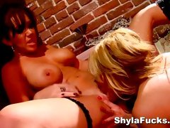 Lesbian fun with Shyla Stylez and Bridgette B