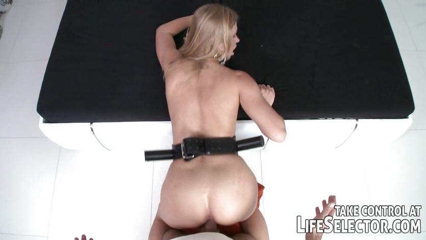 Hot babe gets her moist pussy slammed