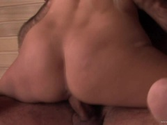 Boroka Borres rides her pussy on this thick shaft
