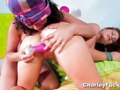 Lesbians Charley Chase and Allison Moore like to fuck
