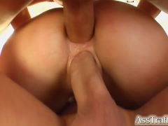 Hot ass taking double huge cocks