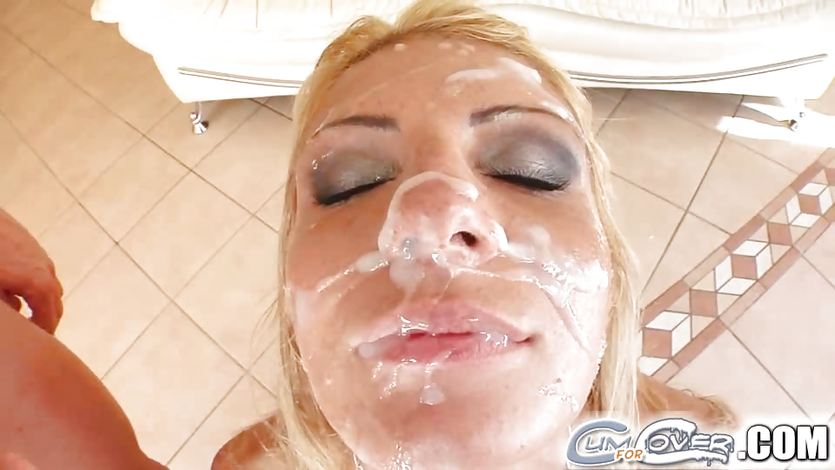 Cum shower after blowing loads of dick