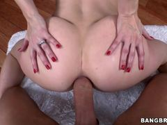 Ass fucking babe Ashley Fires stretches her cheeks