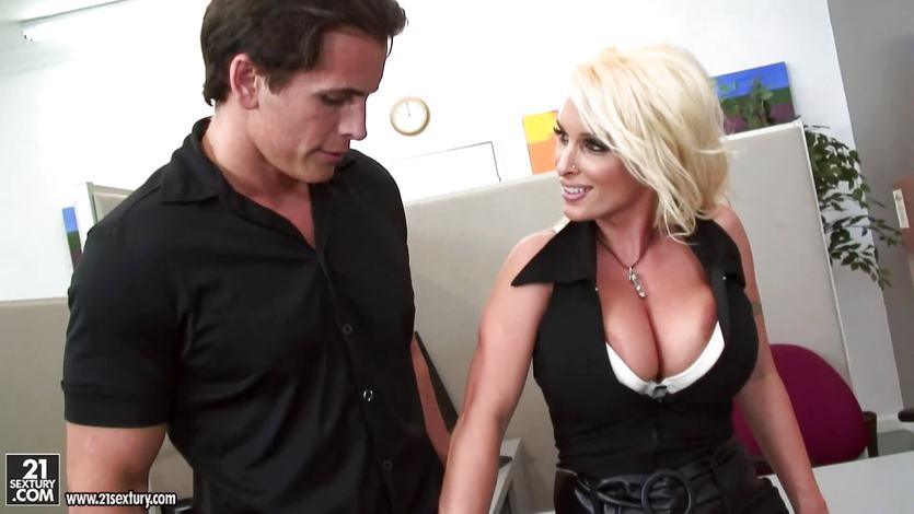 Employee ravaged by boss Holly Halston