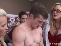 Doctor Brandi Love gets her patient up and running