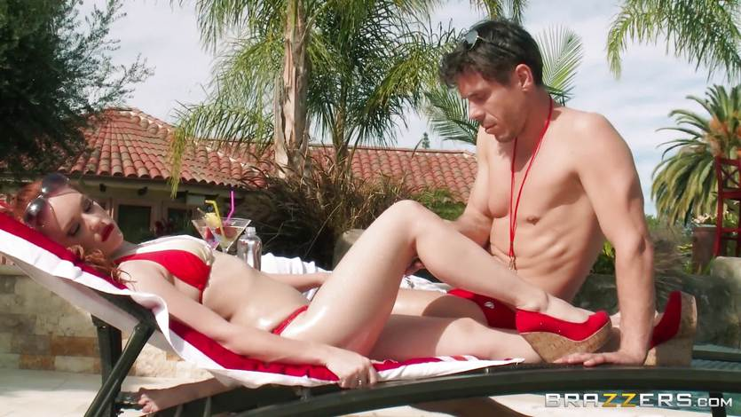 Naughty GF Dani Jensen fucks the lifeguard