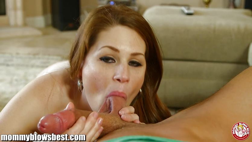 Jodi Taylor stuffs her mouth with hard cock