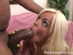 Jordan Blue wraps her lips round this massive dick