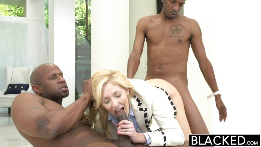 Black Chick White Dick Blowjob