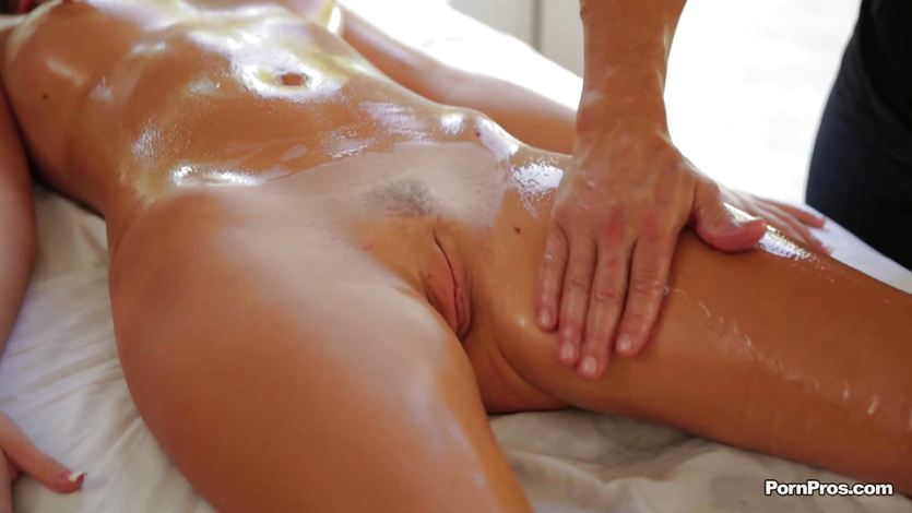 Oily massage with added extras for Alexis Adams