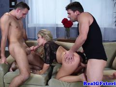 Capri Cavanni fucked in racy threesome