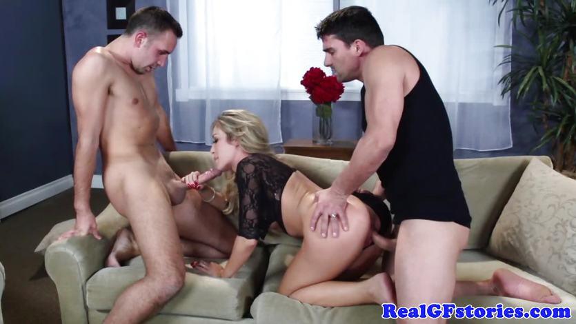 Capri Cavanni fucked in racy threesome