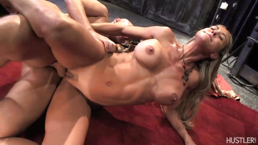 Brandi Love rides her pussy on this hard dick