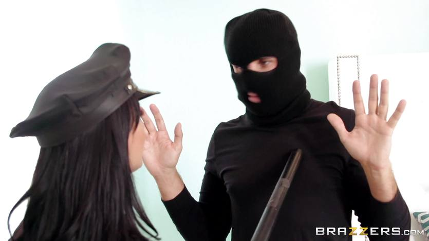 Role playing Holly Halston gets a strangers massive dick
