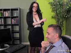 Jayden James is desk fucked by her boss
