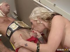 Busty babe Kate Frost loves huge hard dicks