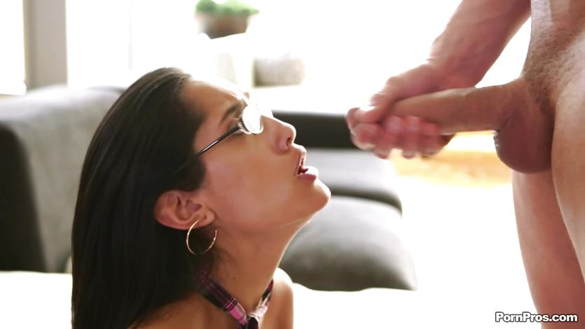 Hot Chloe Amour gets fully facialled