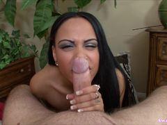 Kimberly Kendall enjoys blowing a dick