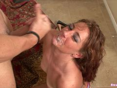Alluring Savannah Fox showered with warm jizz