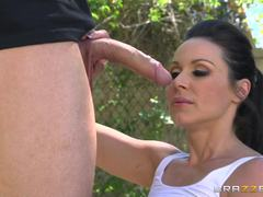 Kendra Lust sucks and fucks on the basketball court