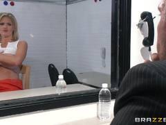 Prison warden bangs into saucy con Zoey Holiday