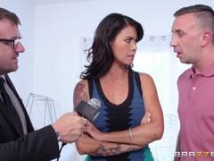 Plain wife Dana Vespoli gets a cock hardening make over