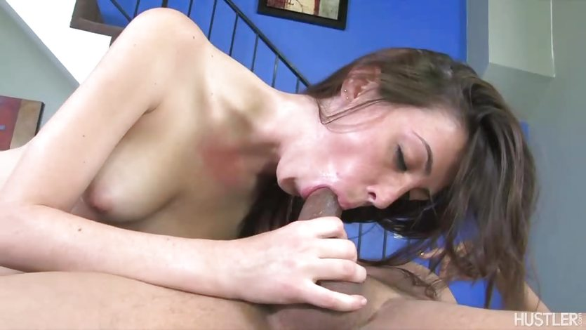 Kitty Duval stuffs her mouth with hard cock
