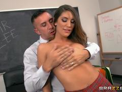 Fantasy fuck for student August Ames