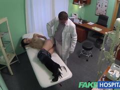 Squirting MILF gets a creampied by Doctor