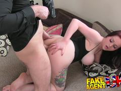 Busty British babe fooled into sex