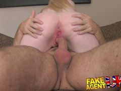 Busty blonde babe gets her warm pussy hammered