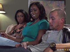 Anya Ivy shares her mans big dick with America Moore