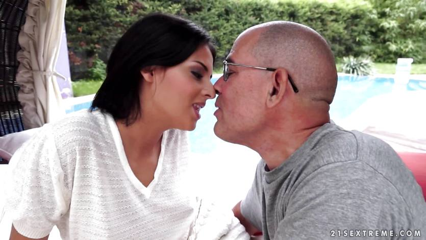 Coco de Mar sucks on an old teachers dick