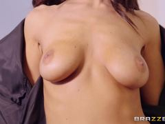 Delicious Whitney Westgate shafted on the massage table