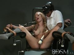 Busty sub gets her hot pussy tormented