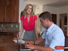 Brandi Love relaxes Taylor Whytes boyfriend which then it turns into a hot steamy threesome