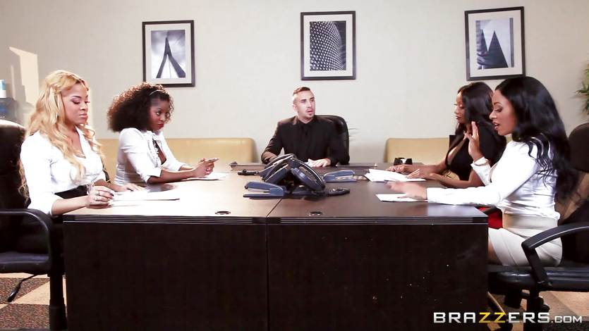 Gangbang interview with Diamond Jackson and friends