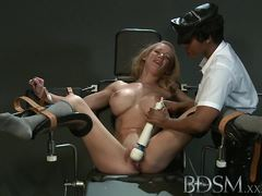 Gorgeous blonde gets her warm pussy vibed