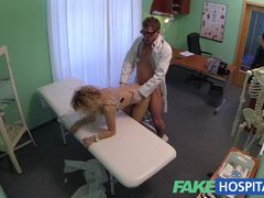 Randy blonde fucked by Doctor