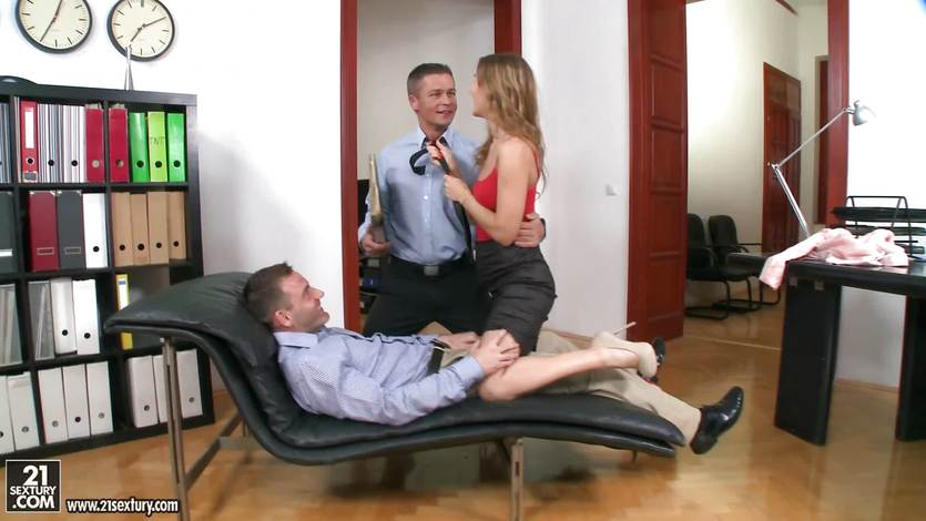 Sabina Moore office double penetration