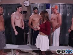 Sara Luvv showered in dick milk