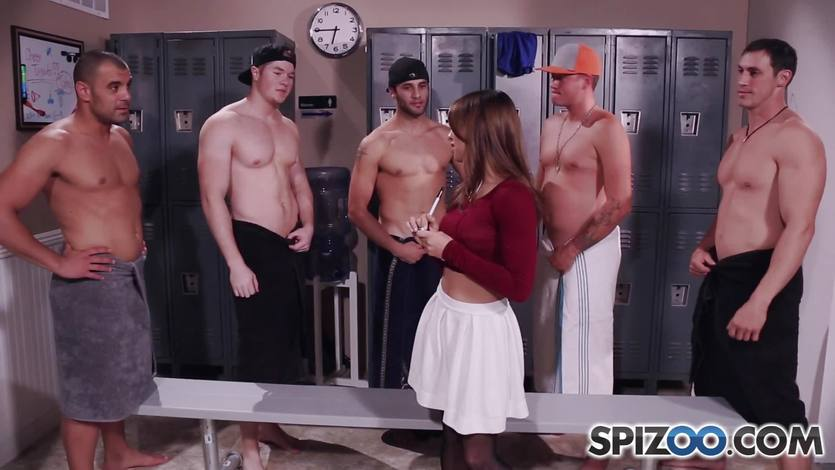 Sara Luvv showered in dick milk