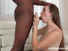 Sensual hottie devours this hard cock