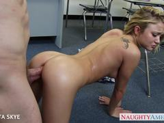 Sizzling Kota Skye gets fucked by her boss
