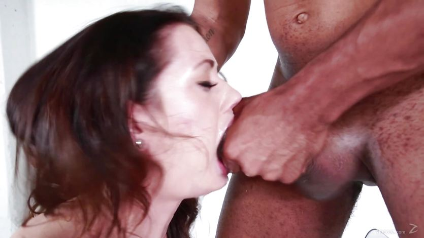 Sarah Shevon drools over this hard cock