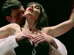 MILF Eva Karera fucking onstage