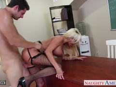 Scorching Nikita Von James loves hard cock