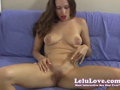 Tempting Lelu Love rubs her moist pussy