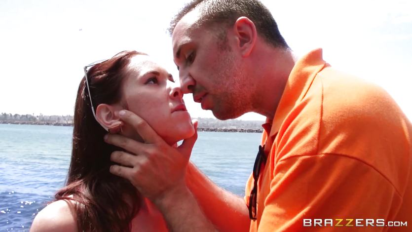 Tysen Rich slips on a huge cock by the sea